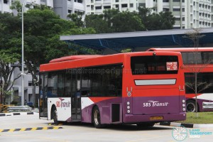 SBS Transit Scania K230UB (SBS8103K) - Permanent Training Bus with L-plate holder (rear)