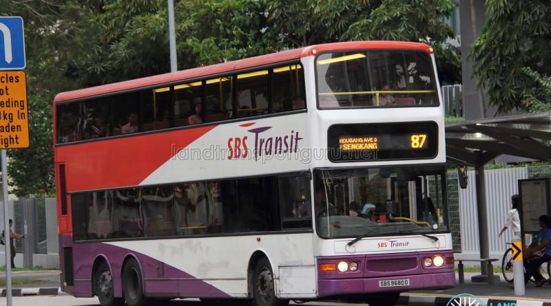 SBS Transit Dennis Trident (SBS9680D) - Service 87