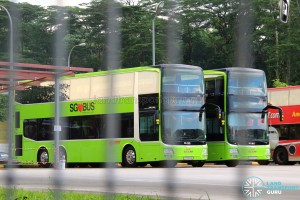 Facelifted MAN A95s at Woodlands Bus Park