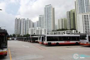 Bukit Panjang Temporary Bus Park - Bus Parking area