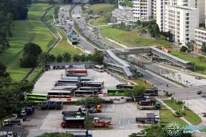 Bukit Panjang Temporary Bus Park - Overhead view looking North