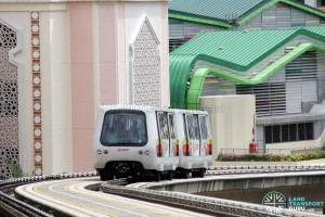 Bombardier Innovia APM 100 (C801A) - Approaching Bangkit Station