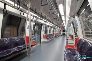 Alstom Metropolis C830C - Blue car interior