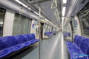 Alstom Metropolis C830 - Blue car interior