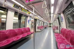 Alstom Metropolis C830 - Maroon car interior