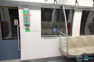 Alstom Metropolis C830C - Wheelchair bay