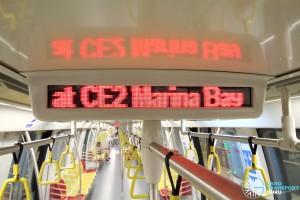 Alstom Metropolis C830C - LED text display