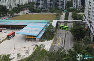 Compassvale Bus Interchange - Adjacent to Sengkang Interchange enclosed within building