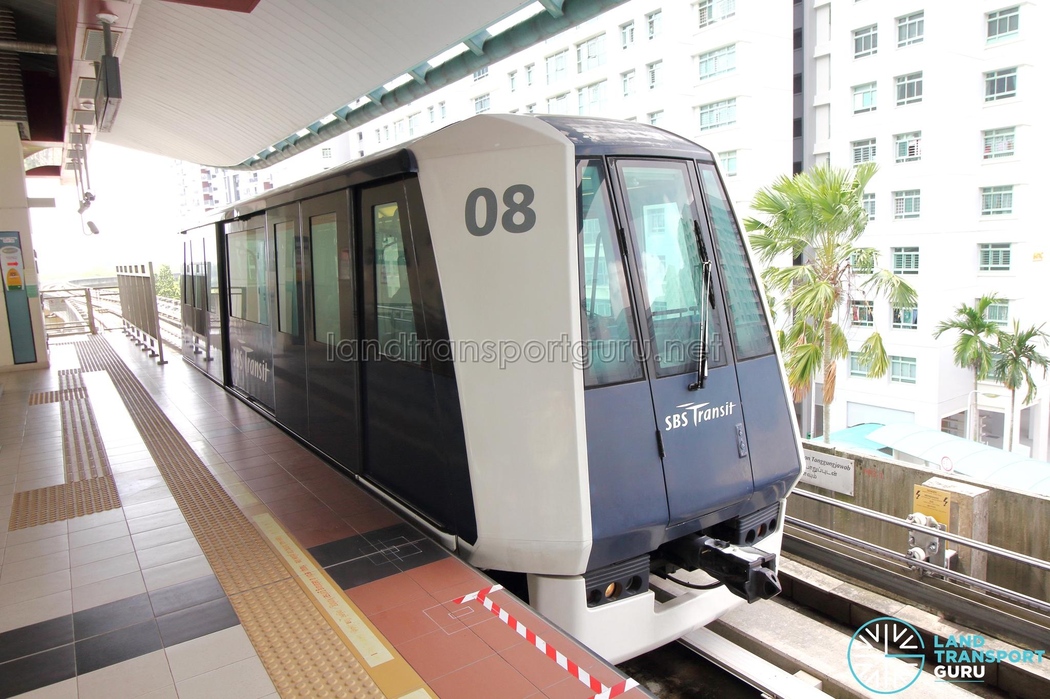 SBS Transit C810 Train in Single-car formation
