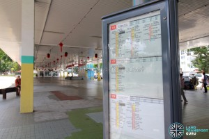 Defunct Hougang South Bus Interchange - Bus stop details