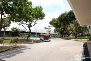 Defunct Hougang South Bus Interchange - Bus ingress