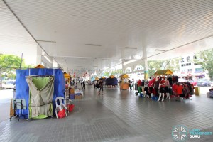 Defunct Hougang South Bus Interchange - Pop-up stalls