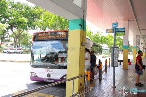 Defunct Hougang South Bus Interchange - Bus stop 63221