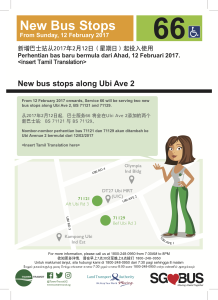 Draft Poster retrieved from Tower Transit's website on 7 Feb 2017 regarding the additional stops for Service 66