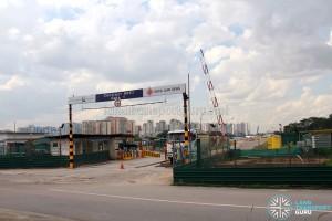 Construction entrance of Gali Batu Expansion + Bus Terminal