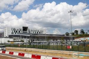 Gali Batu MRT Depot - Maintenance workshop, with depot building in the background