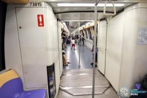 Alstom Metropolis C751A - Gangway connection