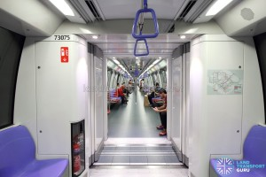 Alstom Metropolis C751C - Gangway connection