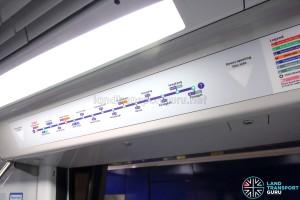 Alstom Metropolis C751C - Active Route Map