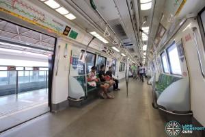 Kawasaki Heavy Industries C151 - Green car interior
