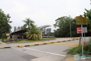 Tuas Bus Terminal - Vehicular ingress/egress leading to Tuas West Drive