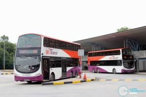 Tuas Bus Terminal - Parked buses