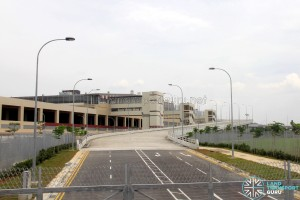 Tuas Bus Terminal - Vehicular ramp to Tuas West Drive