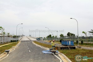 Tuas Bus Terminal - Vehicular ramp to Tuas Link 4