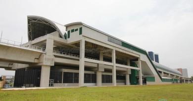 Tuas Link MRT Station - Exterior from Raffles Marina