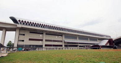 Tuas West Road MRT Station - Exterior from Tuas West Road