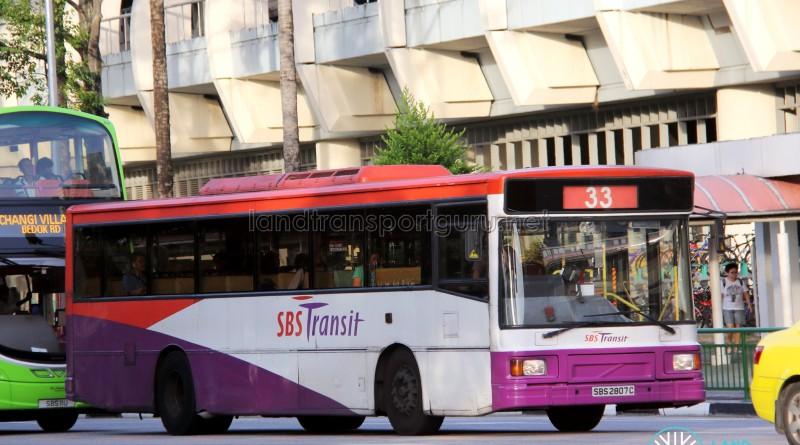 SBS Transit Volvo B10M MkIV (SBS2807C) - Service 33