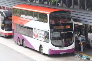 Tower Transit Volvo B9TL Wright (SBS3393Y) - Service 98M, skipping Jurong Island and Jurong Port Road