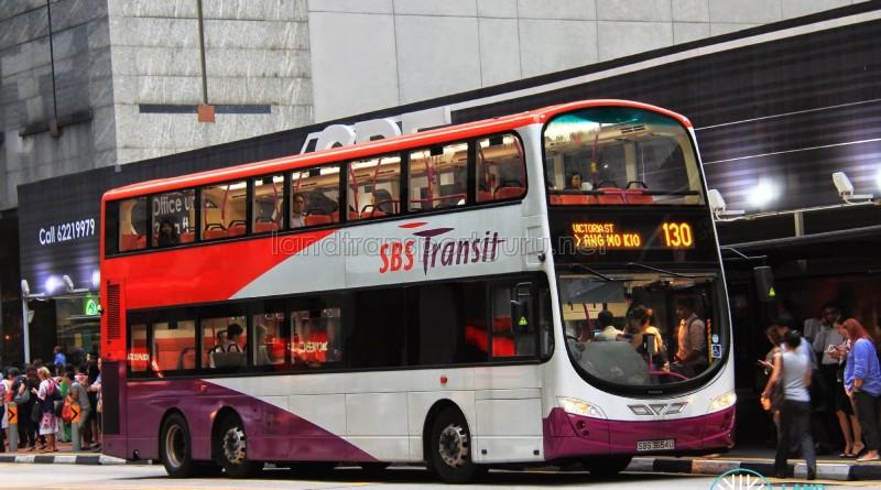 SBST Volvo B9TL Wright (SBS3654U) - Service 130
