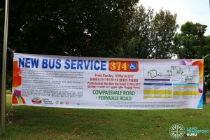 Bus Service 374 Banner