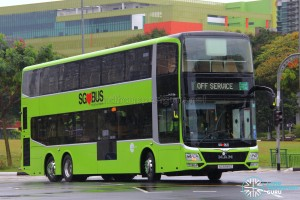 MAN Lion's City DD L Concept Bus (SG5999Z) - Off Service with and Tower Transit Logo in Colour