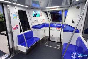 Changi Airport Skytrain - Blue Interior - End section