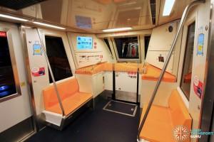 Changi Airport Skytrain - Orange Interior - End section