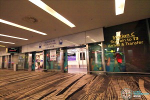 Changi Airport Skytrain - Transit Area - Station C (Terminal 1)