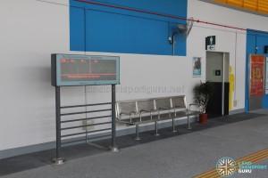 Compassvale Bus Interchange - Departure Timings Screen