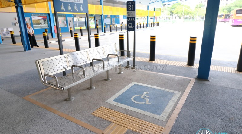 Compassvale Bus Interchange - Priority seats and PIW waiting area