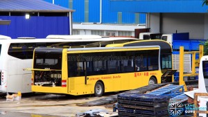 Gemilang Coachworks - MAN NL323F bus for the Hong Kong market undergoing fitting works