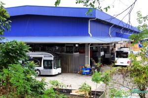 Gemilang Coachworks - MAN NL323F buses for SMRT undergoing fitting works