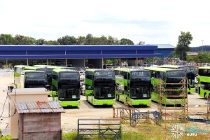 Gemilang Coachworks - Assembled MAN A95 Facelift buses in storage - SG5840Y, SG5839C and SG5843P