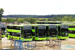 Gemilang Coachworks - Assembled MAN A95 Facelift buses in storage - SG5812D, SG5818M, SG5810D and SG5847D
