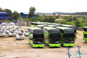Gemilang Coachworks - Assembled MAN A95 Facelift buses in storage