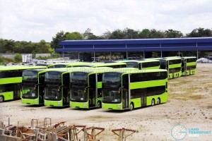 Gemilang Coachworks - Assembled MAN A95 Facelift buses in storage - SG5842S, SG5822A, SG5824U and SG5824Y