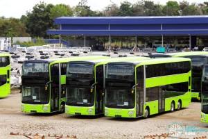 Gemilang Coachworks - Assembled MAN A95 Facelift buses in storage - SG5811G, SG5821C and SG5819K