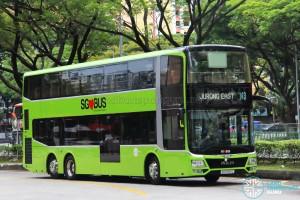 Tower Transit - MAN Lion's City DD L Concept Bus (SG5999Z) - Service 143