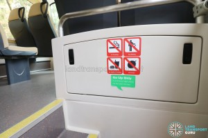 MAN Lion's City DD L Concept Bus (SG5999Z) - Front staircase warning signs