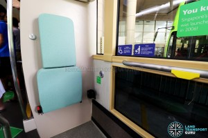 MAN Lion's City DD L Concept Bus (SG5999Z) - Wheelchair Bay backrest, integrated with foldable seat. Seatbelt and USB Charging Port also available.